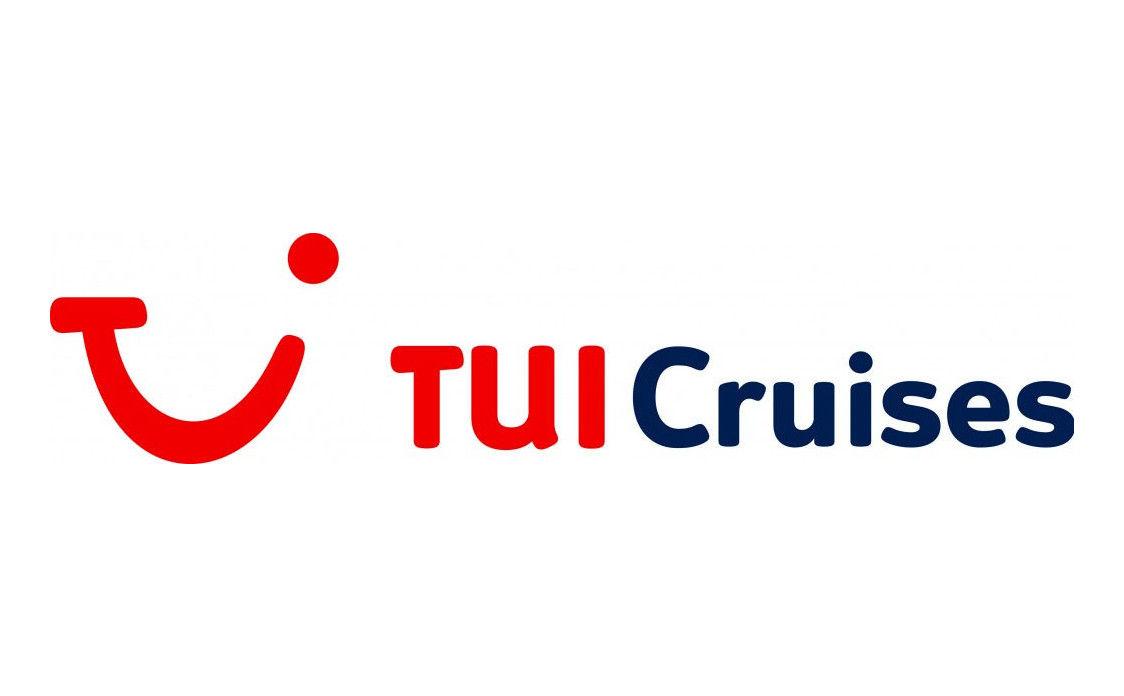 Logo in rot und dunkelblau von TUI Cruises.