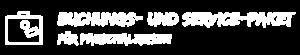 """Illustration Reisekoffer vor türkisem Hintergrund mit Text """"Buchungs- und Servicepaket für Pauschalreisen"""". Dies ist eines der SIMTIS Buchungspakete für Pauschalreisen."""